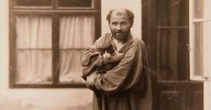 Gustav-Klimt-amava-i-gatti-586x308