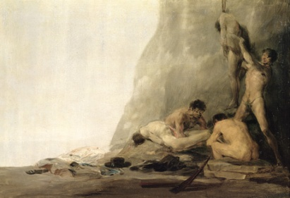 Goya, cannibali preparano le loro vittime 1800 -1808 ca.