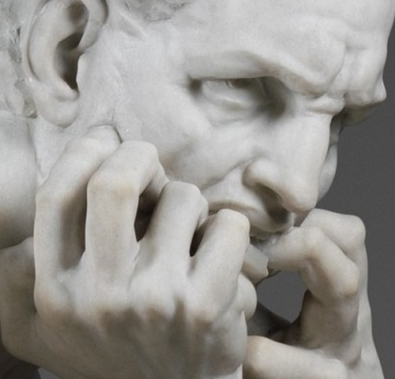 Jean-Baptiste Carpeaux. Ugolino and His Sons . detail Ugolino's face